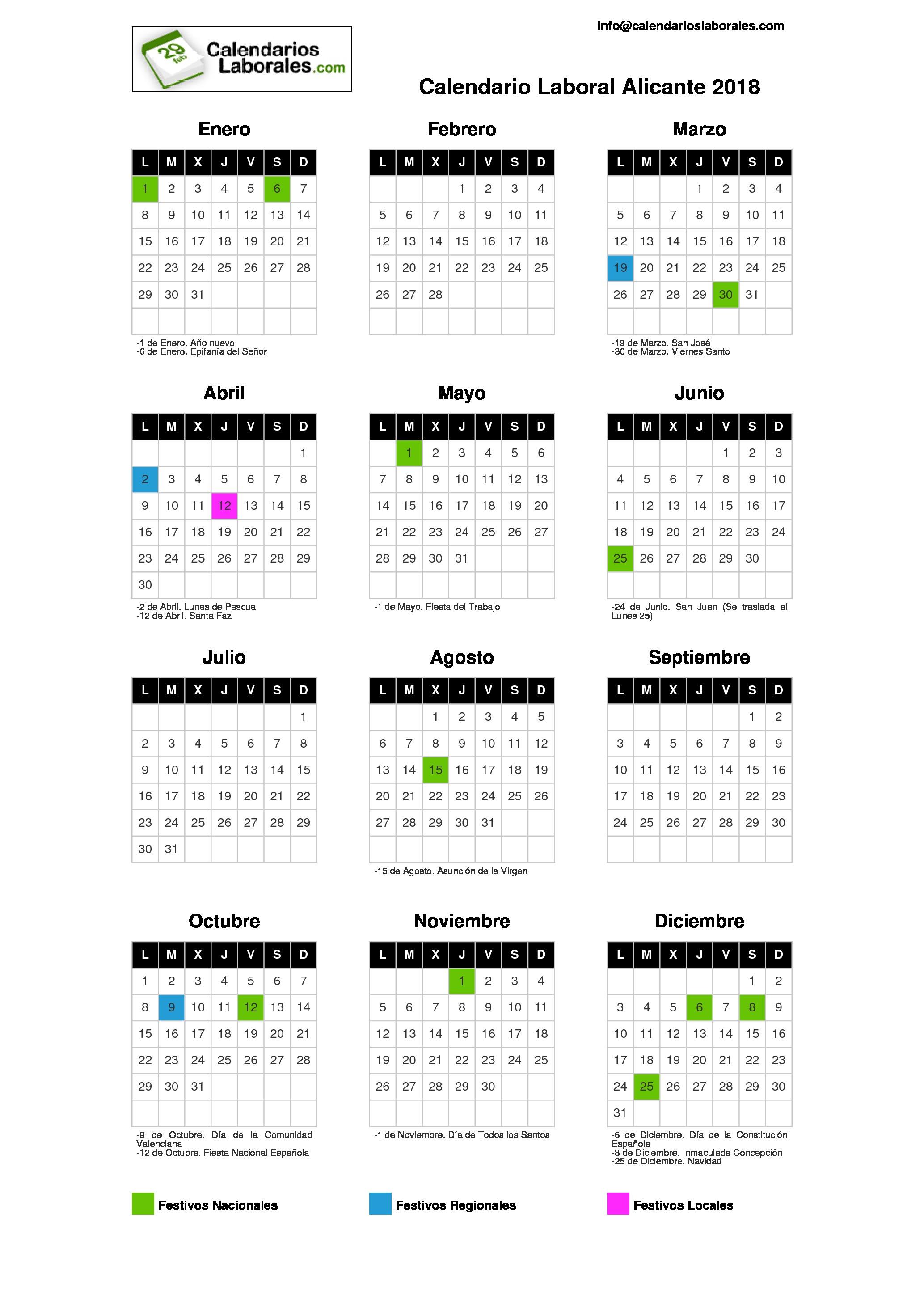 Calendario Laboral 2018 Zaragoza