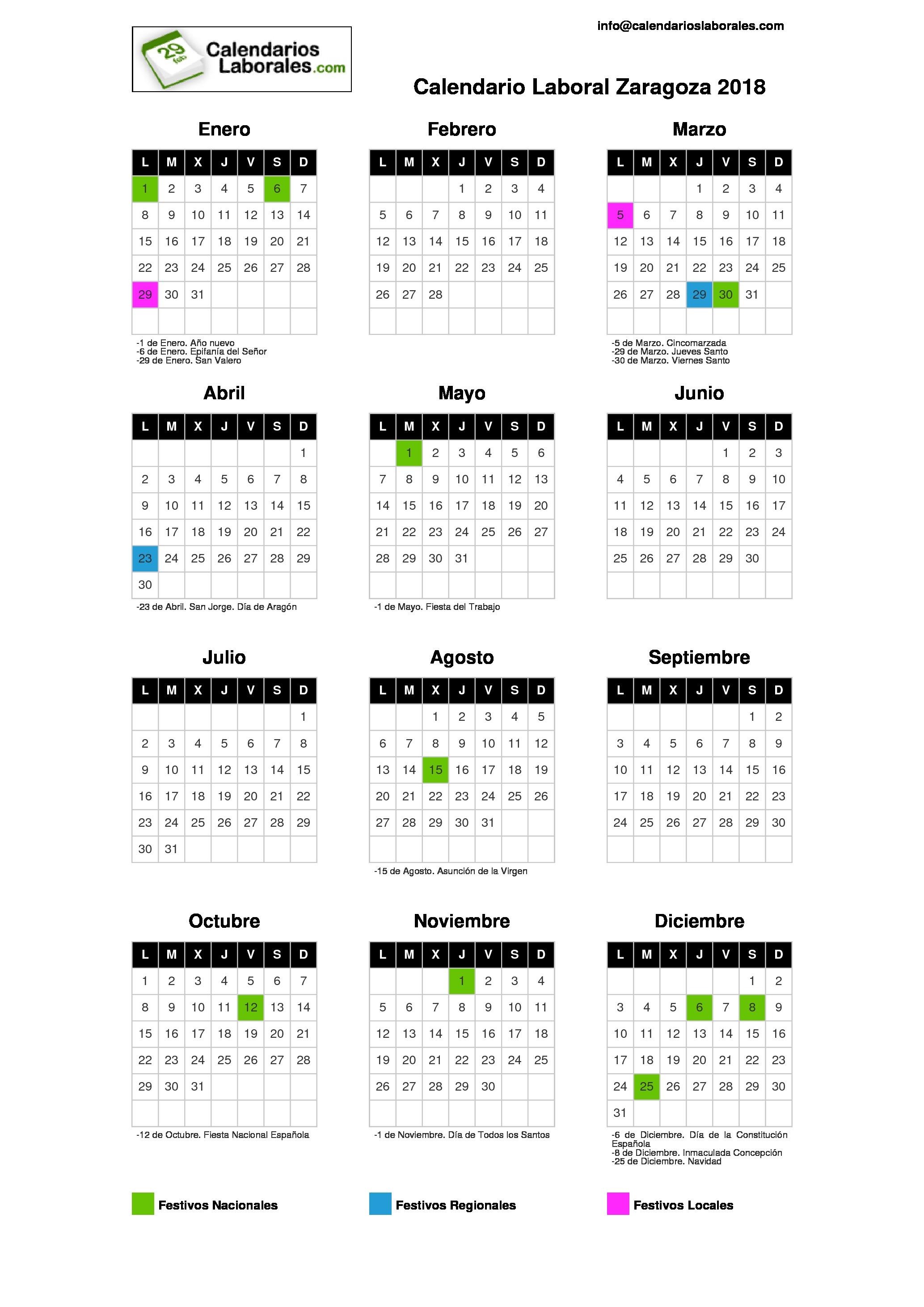Calendario Laboral 2018 Murcia