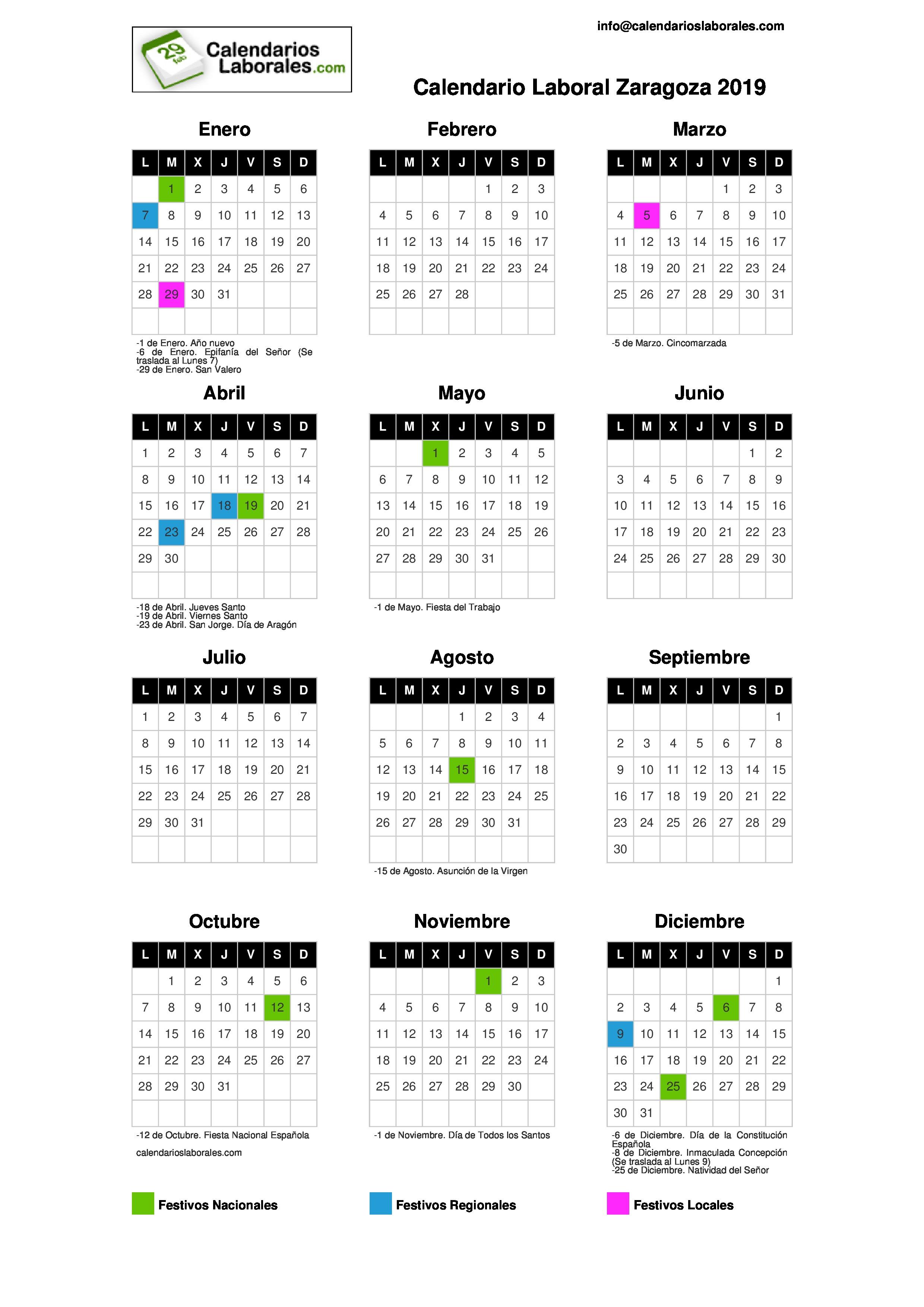 Calendario Laboral 2019 Valencia