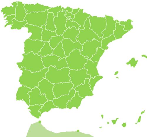 Mapa Provincias Calendarios Laborales España